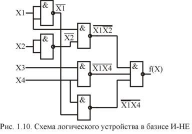 Схема на базисе или-не