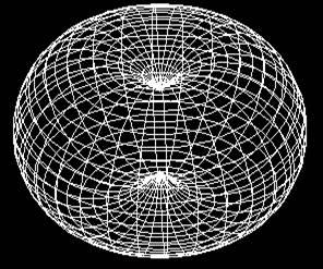 Результирующая эквипотенциальная поверхность магнитной компоненты